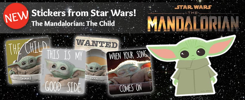 Stickers from Star Wars: The Mandalorian