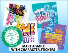 Hypo-Allergenic Character Stickers