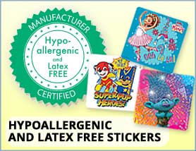 Character Stickers/ Hypo-Latex Free