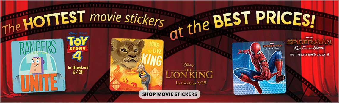 The hottest movie stickers at the best prices!