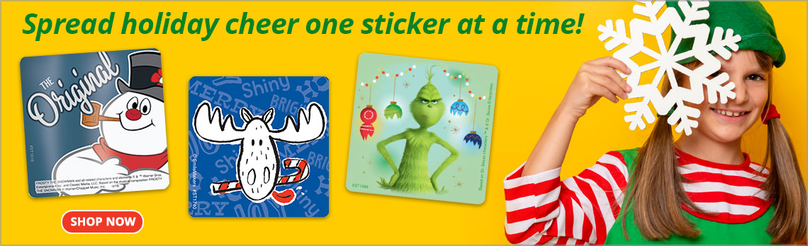 Spread Holiday Cheer One Sticker at a Time